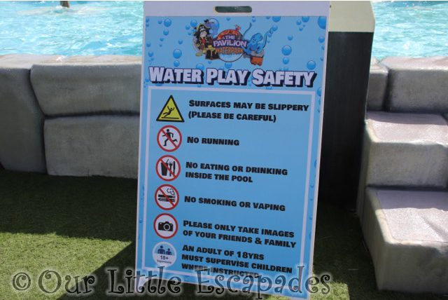 water play safety sign